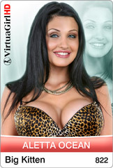 Aletta Ocean strips in Big Kitten