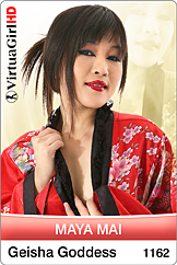 Maya Mai strips in Geisha Goddess